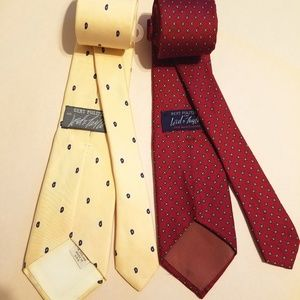 Bert Pulitzer for Lord and Taylor - 2 Silk Ties